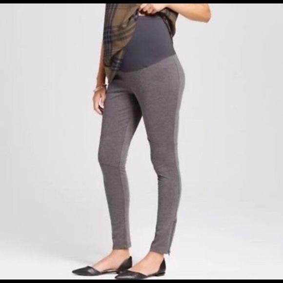 619008d87d085 Liz Lange for Target Pants   Nwtmaternity Leggings Gray Zippered Leg ...
